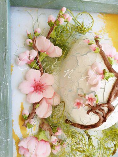 Rama cu flori de cires