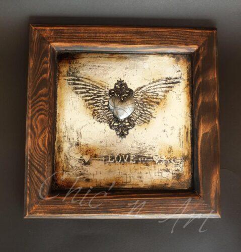 Rama Vintage Silver - Love Yourself- nu mai sunt locuri disponibile